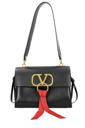 Valentino Garavani Shoulder bags Women Leather Black Black