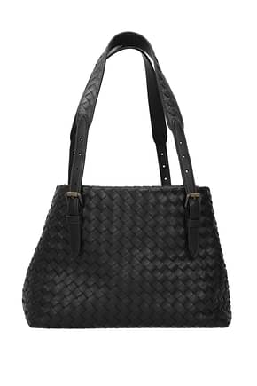 Bottega Veneta Shoulder bags Women Leather Black