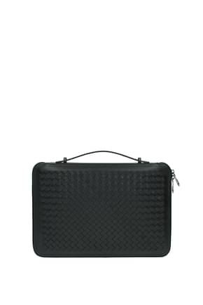 Bottega Veneta Handbags Men Leather Black