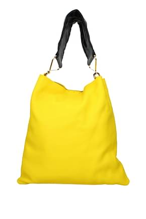 Marni Shoulder bags Women Leather Yellow