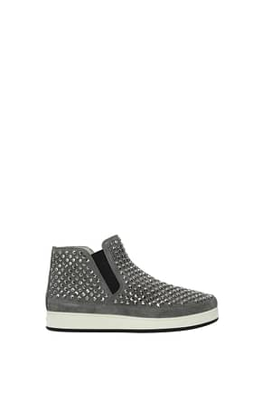Prada Ankle boots Women Suede Gray