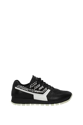 Prada Sneakers Women Leather Black White