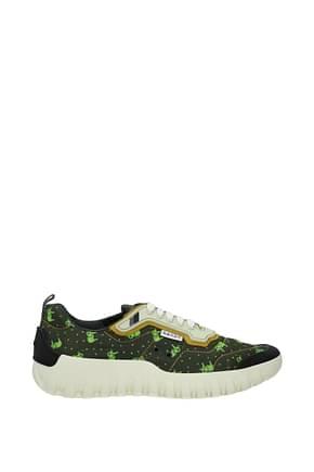 Prada Sneakers Men Fabric  Green