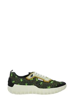 Prada Sneakers Men Fabric  Green