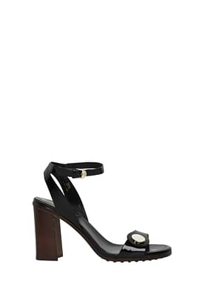 Tod's Sandals Women Patent Leather Black