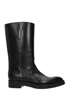 Prada Ankle boots Women Leather Black