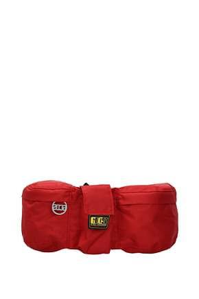 GCDS Backpack and bumbags Men Fabric  Red