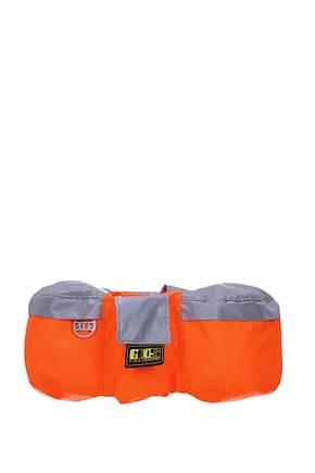 GCDS Backpack and bumbags Men Fabric  Orange