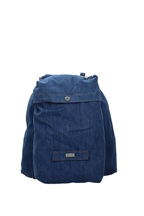 GCDS Backpack and bumbags Men Fabric  Blue