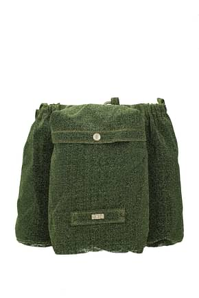 GCDS Backpack and bumbags Men Fabric  Green