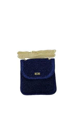 GCDS Coin Purses Women Fabric  Blue