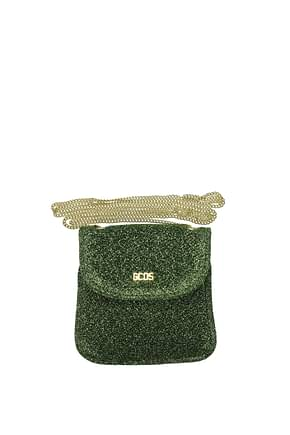 GCDS Coin Purses Women Fabric  Green