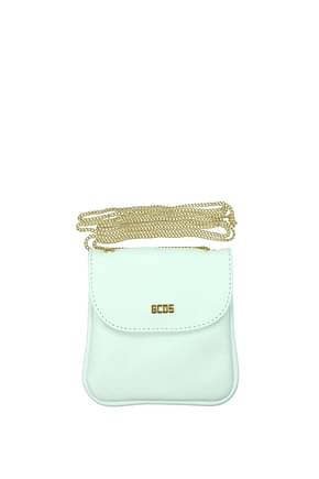 GCDS Coin Purses Women Leather White