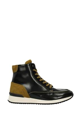 Hogan Sneakers hogan rebel Homme Cuir Noir Moutarde