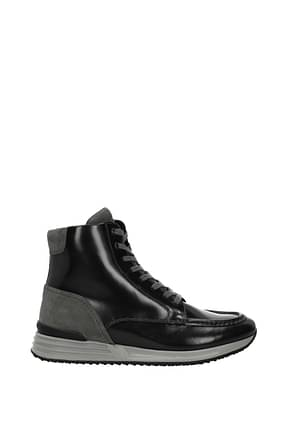 Hogan Sneakers hogan rebel Homme Cuir Noir Plomb
