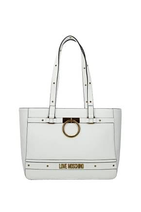 Love Moschino Sacs D'épaule Femme Polyuréthane Blanc