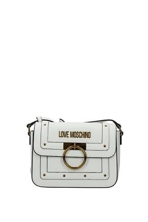 Love Moschino Sacs bandoulière Femme Polyuréthane Blanc
