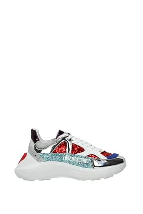 Love Moschino Sneakers Women Sequins Multicolor