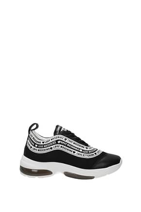 Love Moschino Sneakers Women Fabric  Black