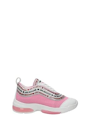 Love Moschino Sneakers Mujer Tejido Rosa