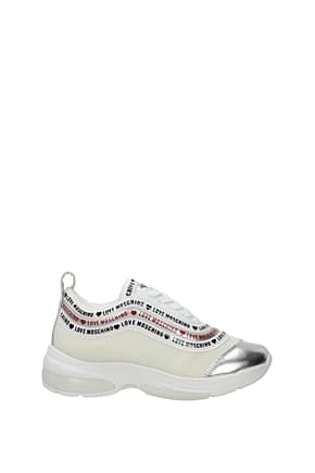 Love Moschino Sneakers Donna Tessuto Beige