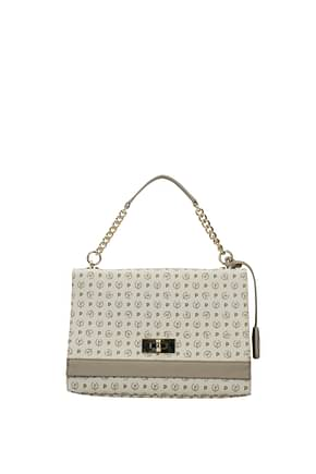 Pollini Handbags Women PVC Beige Grey