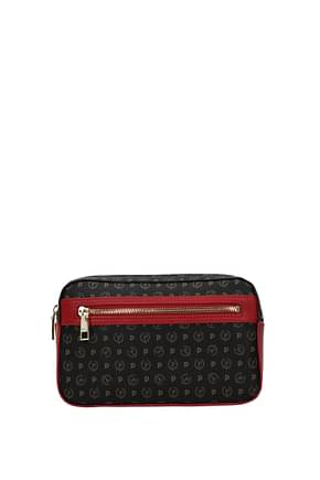 Pollini Backpacks and bumbags Women PVC Black Red