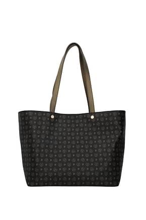 Pollini Shoulder bags Women PVC Black Antelope