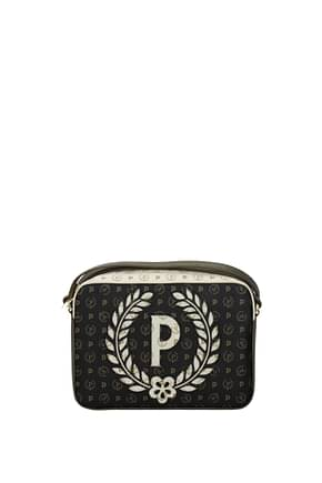 Pollini Crossbody Bag Women PVC Black Antelope