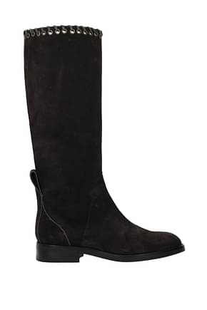 See by Chloé Boots Women Suede Brown