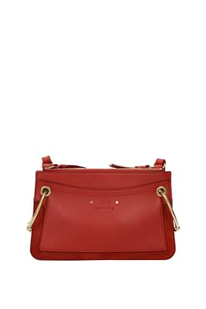 Chloé Crossbody Bag Women Leather Orange