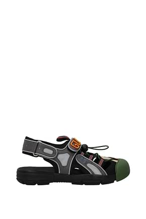 Gucci Sandals Men Fabric  Multicolor