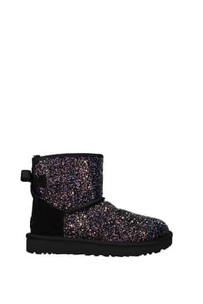 UGG Ankle boots Women Glitter Black
