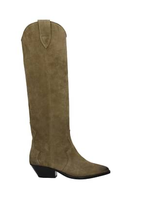 Isabel Marant Boots Women Suede Green