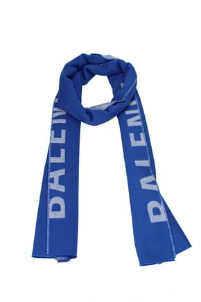 Balenciaga Scarves Women Wool Blue