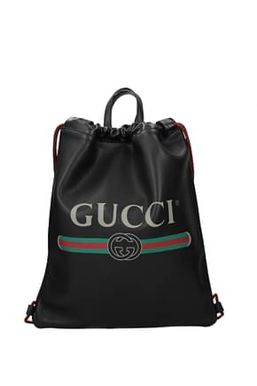 Gucci Backpack and bumbags Men Leather Black