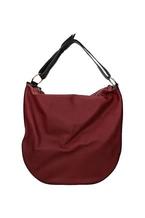 Marni Shoulder bags Women Leather Black Bordeaux