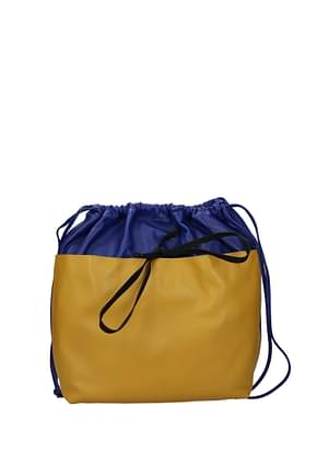 Marni Backpacks and bumbags Women Leather Blue Sand
