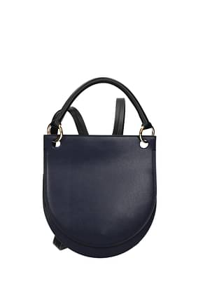 Marni Backpacks and bumbags Women Leather Blue Dk Chambray