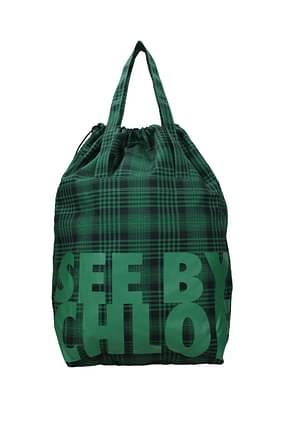 See by Chloé Bolsos de mano Mujer Tejido Verde