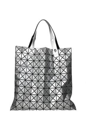 Issey Miyake Handbags baobao Women Plastic Silver