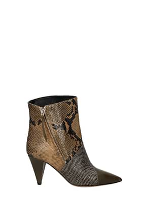 Isabel Marant Ankle boots exotic Women Leather Multicolor