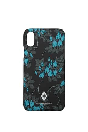Marcelo Burlon Porta iPhone i phone x Donna Plastica Nero