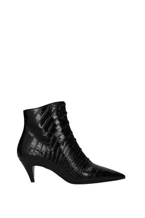 Saint Laurent Bottines Femme Cuir Noir
