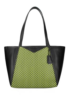 Michael Kors Shoulder bags lg whitney Women Leather Black Fluo Yellow