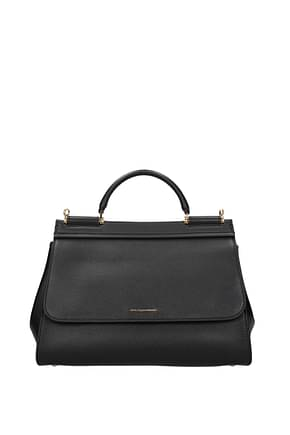 Dolce&Gabbana Handbags sicily soft medium Women Leather Black