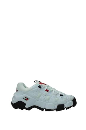 Tommy Jeans Sneakers heritage Femme Cuir Blanc