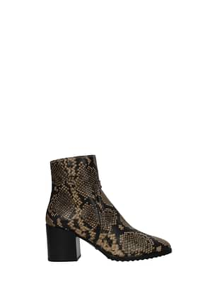 Tod's Ankle boots Women Leather Brown