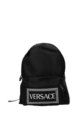 Versace Backpack and bumbags Men Fabric  Black