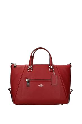 Coach Handbags primrose Women Leather Red